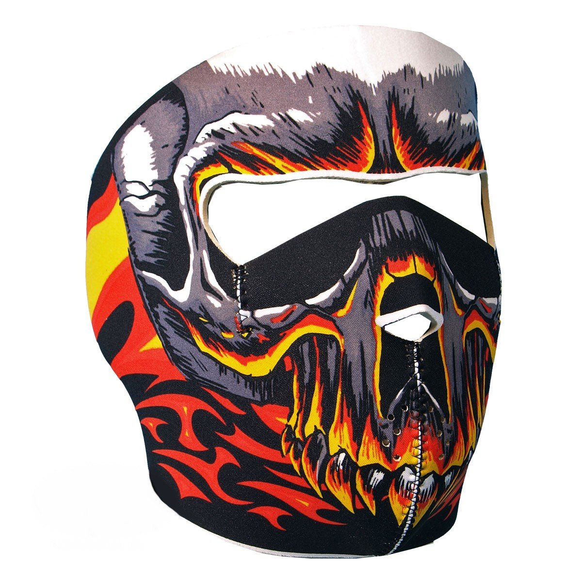 """Cagoule Masque Protection Neoprene """"Hell Skull"""" - Taille unique réglable - Airsoft - Paintball - Outdoor - Ski - Snow - Surf - Moto - Biker - Quad"""