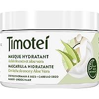 Timotei mascarilla hidratante para cabello seco con leche de coco y aloe vera; con desenredantes de origen vegetal, 98…