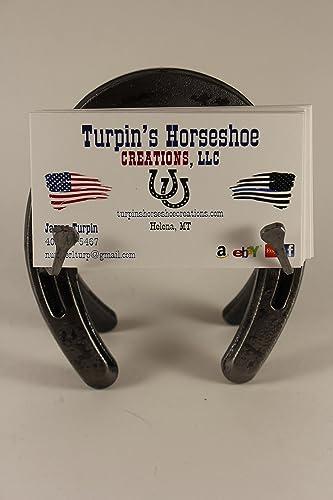 Amazon horseshoe business card holder with nails handmade horseshoe business card holder with nails colourmoves