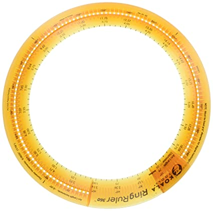 amazon com koala tools ring ruler 360 circle stencil