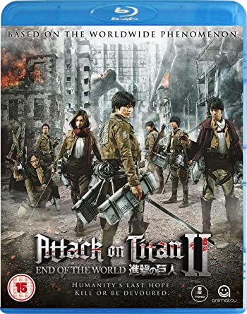 Poster of Attack on Titan II: End of the World 2015 Full Hindi Dual Audio Movie Download BluRay 480p