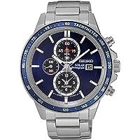 Seiko Men's Solar Chronograph Quartz 100m Stainless Steel Watch