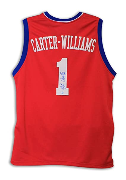 Michael Carter-Williams Autographed Jersey - Red - Autographed NBA Jerseys f5029db1c