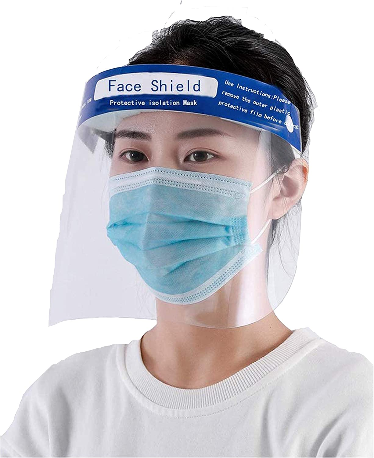 2 pack Child Full Face Safety Protective Mask Eye Face Anti-fog Mask Shield USA