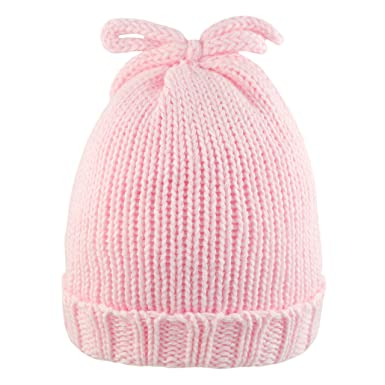 2564f9713f1 Pesci Baby Girls Knitted Beanie Hat with Top Bow  Amazon.co.uk  Clothing