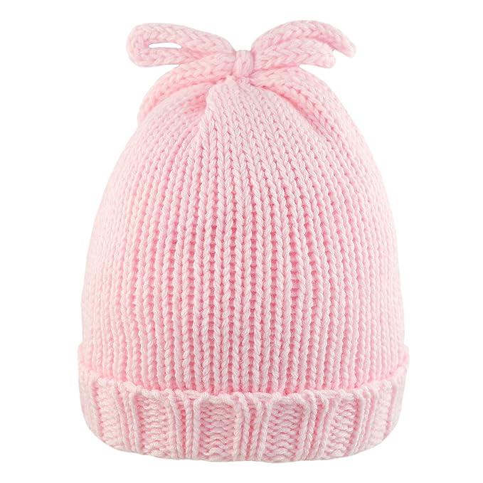 Pesci Baby Girls Beanie Hat Knitted Winter Polka Dot