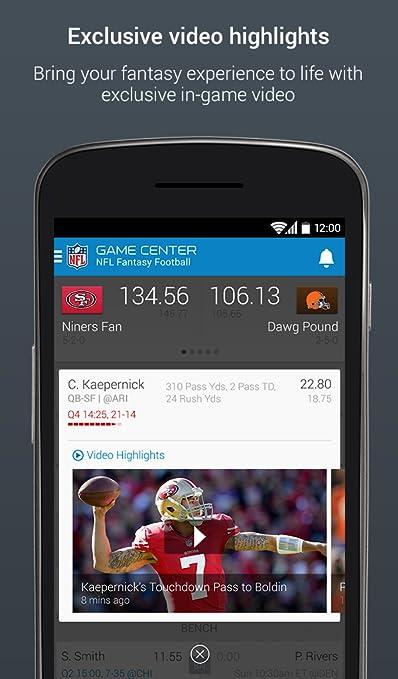 8f97dff8093 Amazon.com: NFL Fantasy Football - Official NFL.com Fantasy Football app:  Appstore for Android