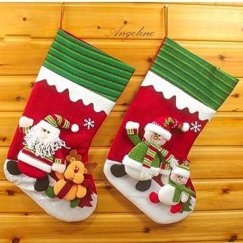 christmas stockings santa reindeer snowman xmas home decor qy36256ab18 - Amazon Christmas Home Decor