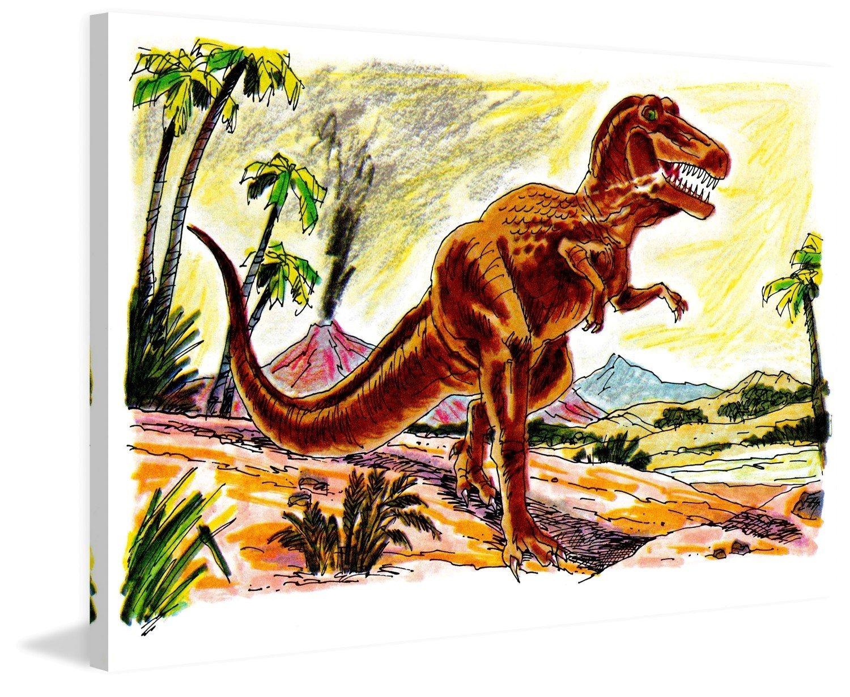 Marmont Hill vintage-kids ' Angry Tyrannosaur 'キャンバス壁アート 24