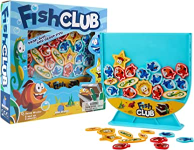 Fish Club Game - Children's Game for 2 Players. Toty Game of The Year Finalist-Recommended for Ages 5 and up. by Blue Orange Games