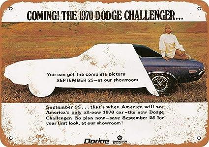 "Vintage DODGE CHALLENGER 9/"" x 12/"" Aluminum Sign"