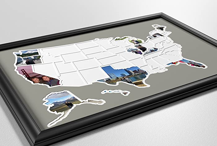 Amazoncom States USA Photo Map Handmade - Map of states in usa