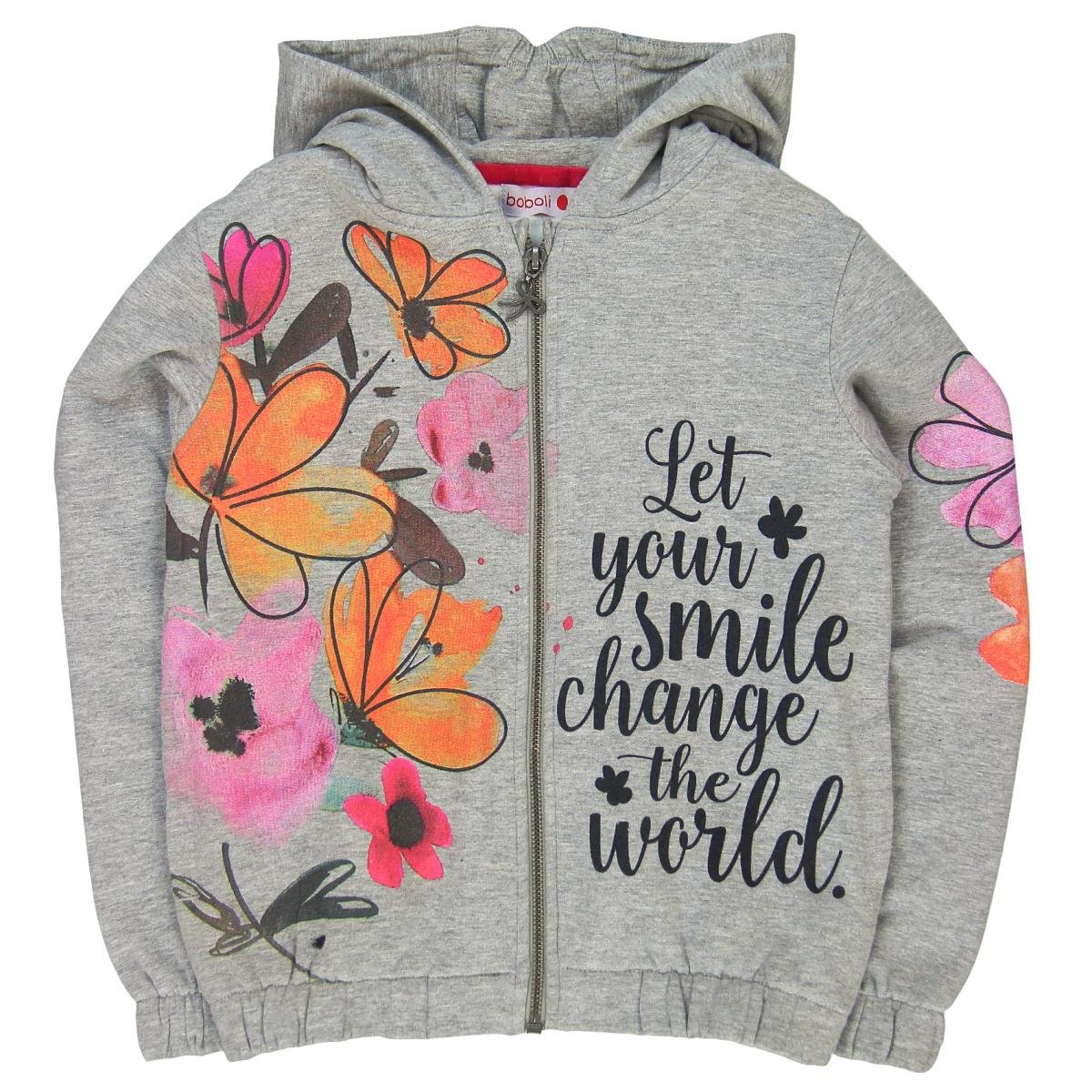 Boboli Mädchen Kapuzenpullover Fleece Jacket Stretch for Girl Bóboli 404086