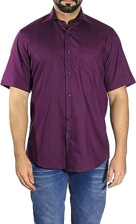 mmuga Camisa Hombre Manga Corta, púrpura, tallas S – 5 x l morado XXXXX-Large: Amazon.es: Ropa y accesorios