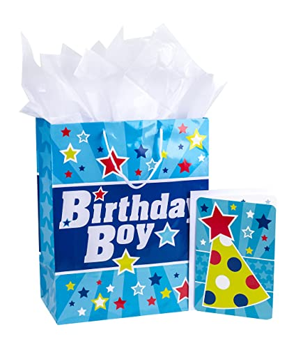 Hallmark Large Birthday Gift Bag With Tissue Paper And Card Boy