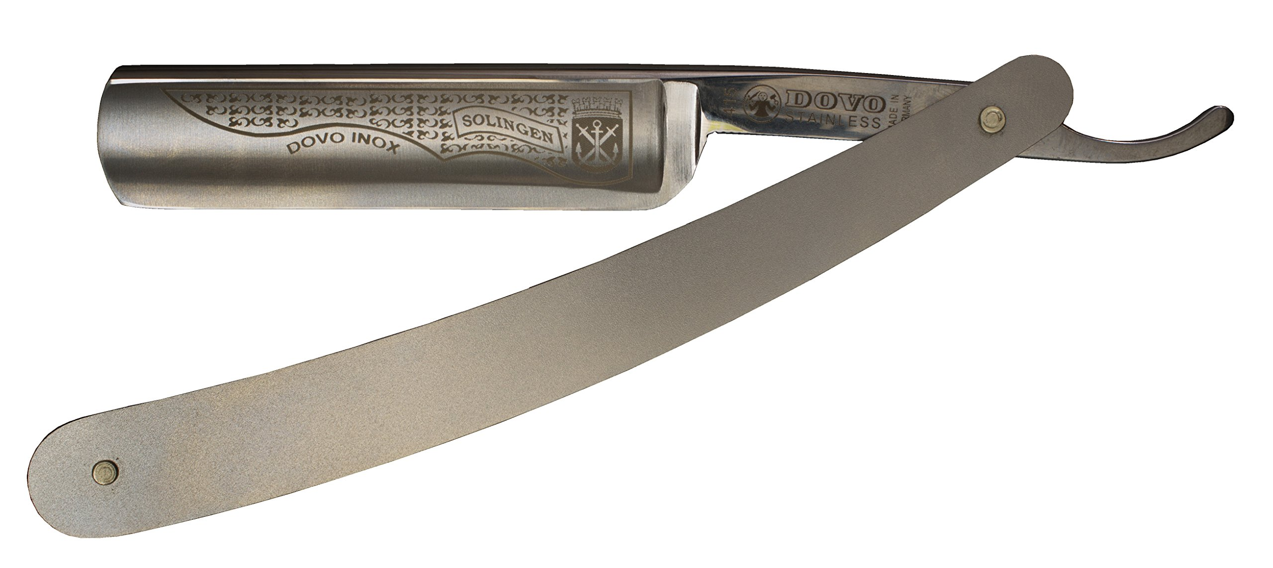 Dovo 4155846 5/8'' INOX Stainless Steel Straight Razor with Shave Ready Option (Shave Ready, Unsealed)