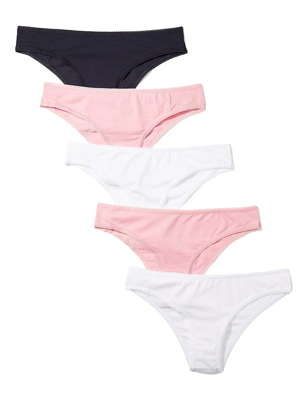 Iris /& Lilly Damen Brazilian Slip aus Baumwolle Marke 3er-Pack