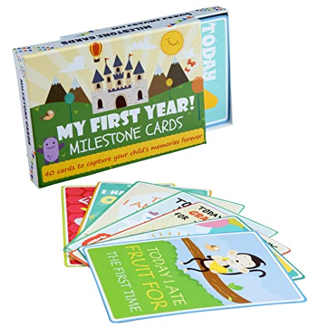 Tarjetas de eventos de Baby Milestone - Paquete de 40 ...