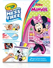 Crayola Mess-Free Color Wonder Pages & Mini Markers, Minnie Mouse, Mess Free Colouring, Washable, No Mess, for Girls and Boys, Gift for Boys and Girls, Kids, Ages 3, 4, 5,6 and Up, Holiday Gifting, , Stocking , Arts and Crafts,  Gifting