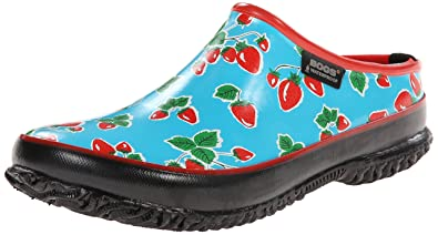 Ladies Bogs Waterproof Garden Clogs Size Uk 4 - 9 Urban Farmer Slide Fruit 71708-Blue-Uk 4 (eu 37) GzBO4