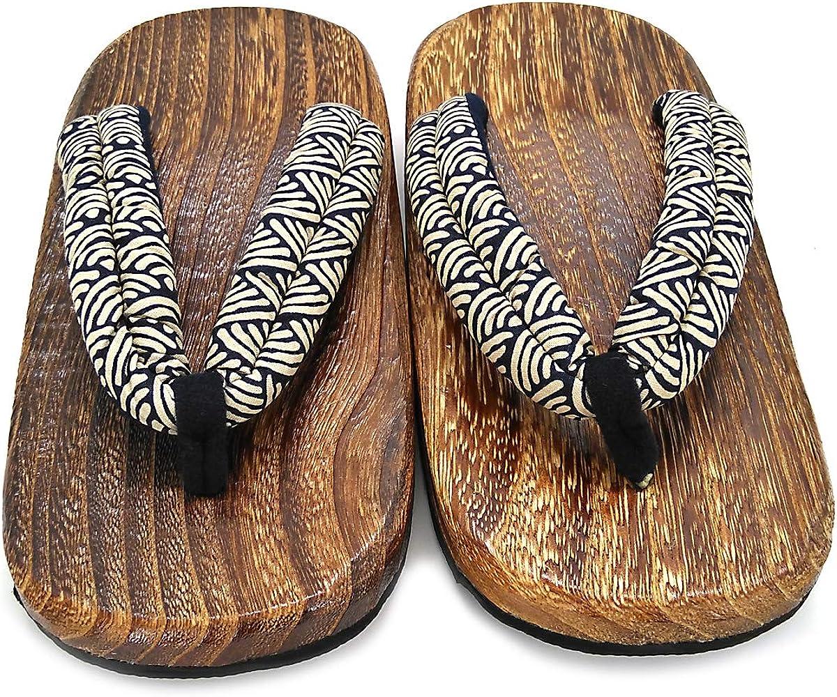 CHNHIRA Unisex-Erwachsene Flip Zehentrenner Holzschuhe Sandalen