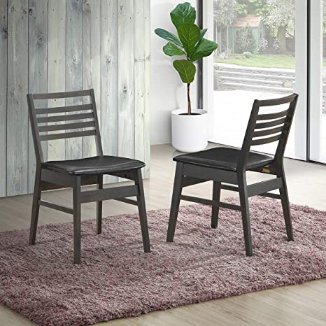 Amazon.com: Giantex Juego de 2 sillas de comedor de goma de ...
