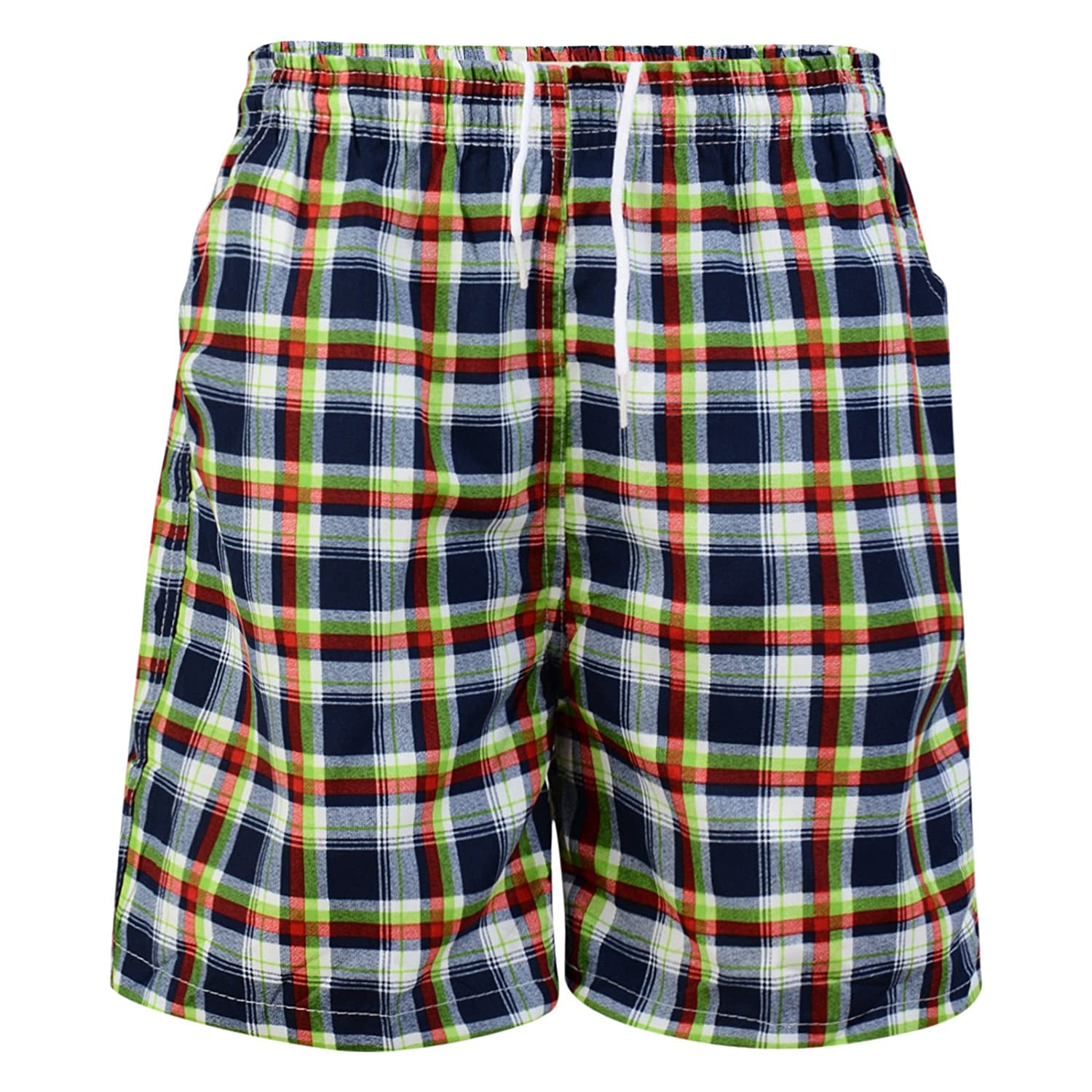BOYS SWIMMING SHORTS CHECK FLORAL SWIMWEAR MESH LINED