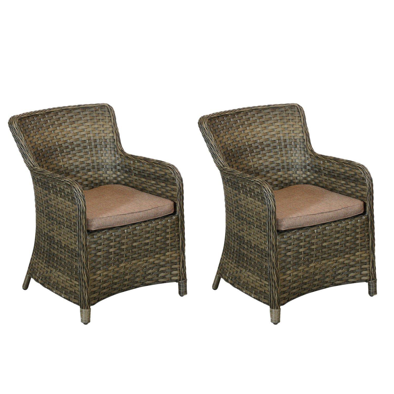 2x hochwertige gartensessel polyrattan braun inklusive sitzkissen premiumqualit t der serie. Black Bedroom Furniture Sets. Home Design Ideas