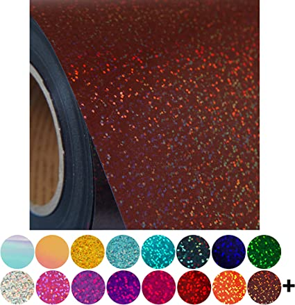 Hotfix iron-on transfer silver glitter circle with the one cut out in 17 colours