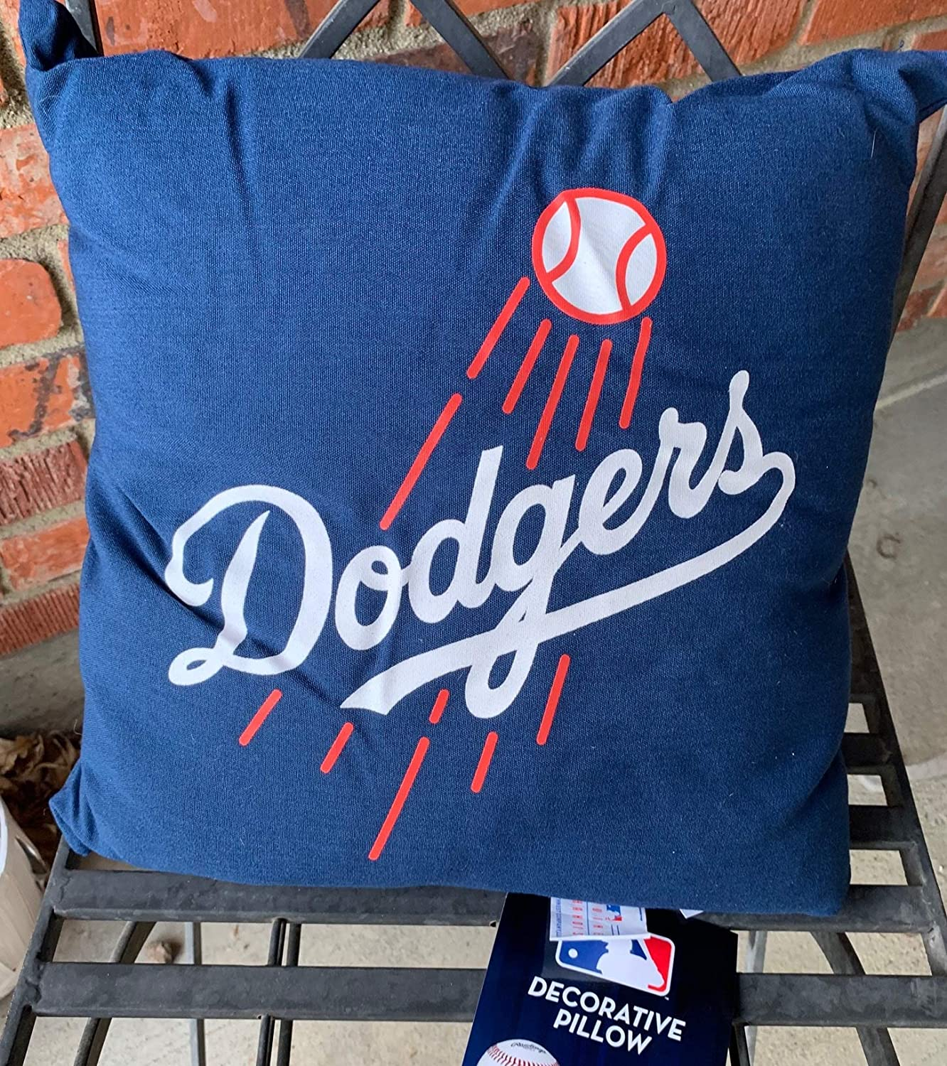 Los Angeles Dodgers 15 by 15 inch Pillow with Tags Northwest