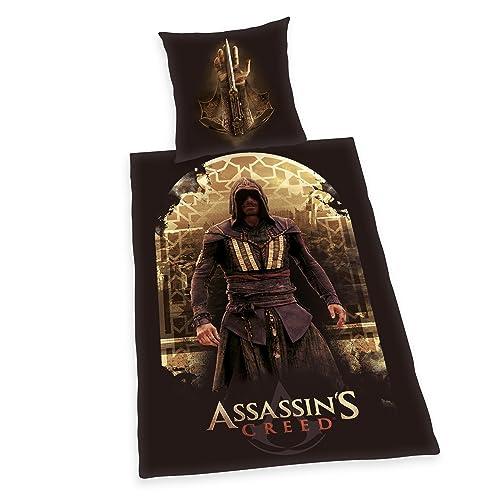 Herding Assassin's Creed Bettwäsche, Baumwolle, braun, 135 x 200 cm