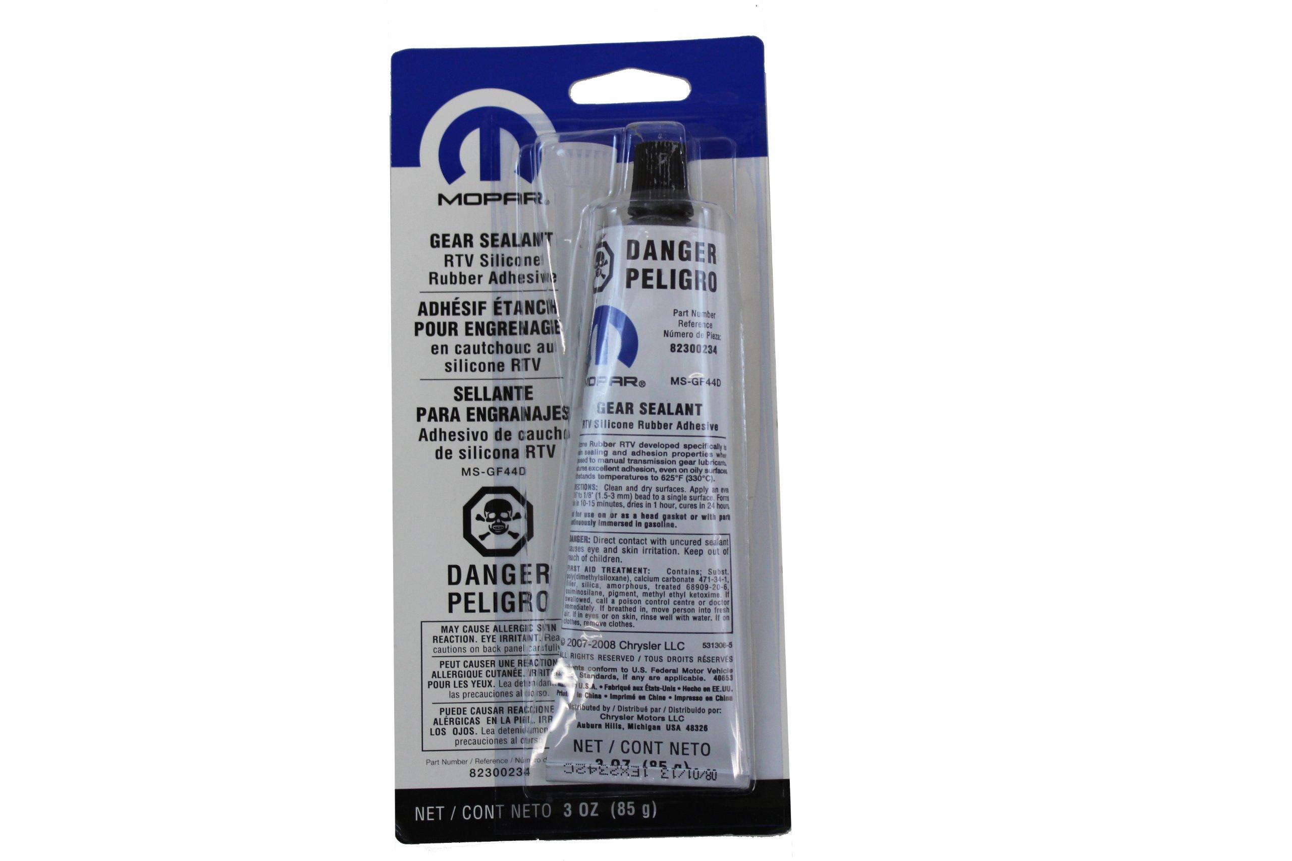 Genuine Chrysler Accessories 82300234 RTV Silicone Rubber Sealant - 3 oz. Tube
