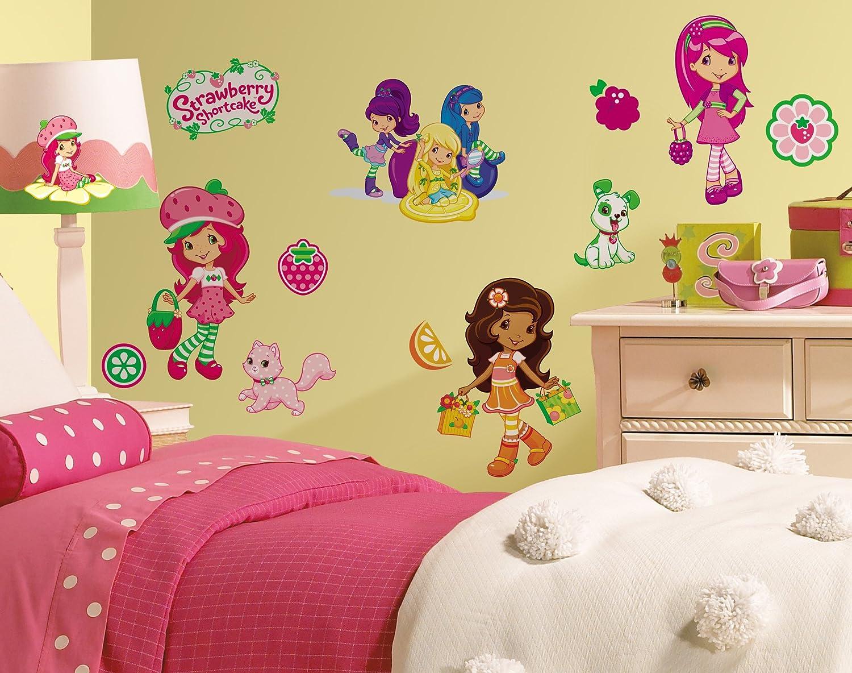 Amazon.com: RoomMates RMK1376SCS Strawberry Shortcake Peel & Stick ...