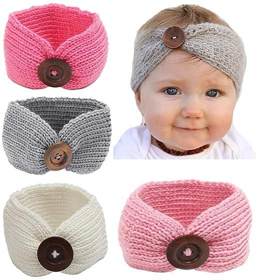 e5b277ad7 Amazon.com: Qandsweet Baby Turban Head Wrap Headbands Girl Knitting ...