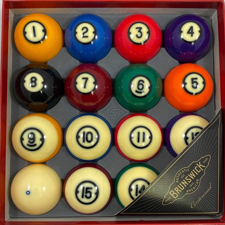 Brunswick Centennial Billiard Balls by Cue & Case Sales: Amazon.es ...