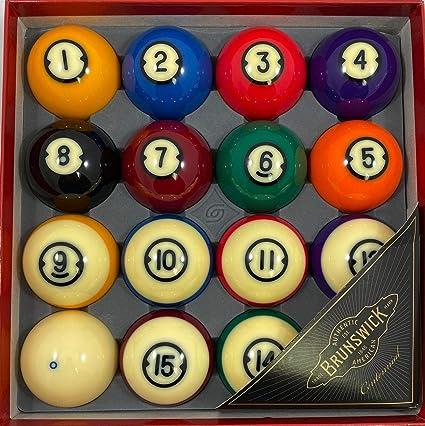 15 ball Brunswick Centennial Billiard Ball replacements- 10 12 11 14