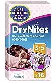 Huggies  DryNites 3-5 ans Fille (16-23 kg) x 16 - Lot de 2