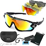 essence''' Polarised Sports Sunglasses Polarized UV400 Protection Cycling Glasses for Mens & Womens - Outdoor Sport Ski Running Driving Golf Walking Fishing Sailing – Accessories Included