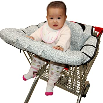 High Chair Cover for baby, Fushop 2-in-1 baby Waterproof shopping cart