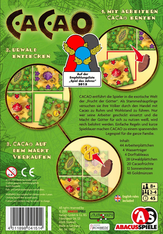 ABACUSSPIELE 04151 - Cacao Legespiel: Amazon.de: Spielzeug
