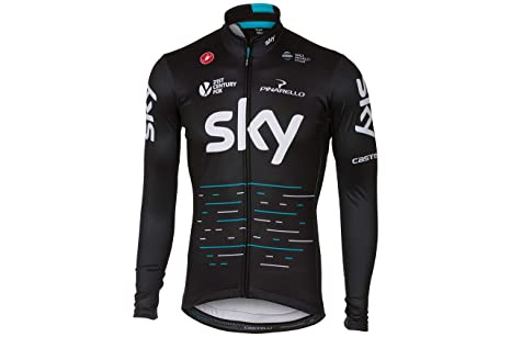 Castelli Sky Long Sleeve Thermal Jersey, Negro: Amazon.es ...