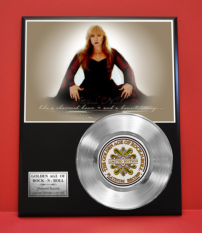 Stevie Nicks LTD Edition Non Riaa Platinum Record Display - Award Quality Music Memorabilia Wall Art - Gold Record Outlet