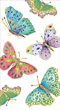 Entertaining with Caspari Jeweled Butterflies Paper Guest Towels, Ivory, Pack of 15