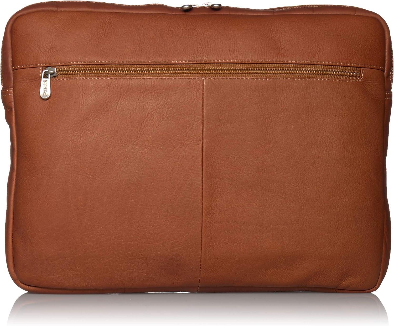 Piel Leather 17 Inch Zip Laptop Sleeve, Saddle, One Size