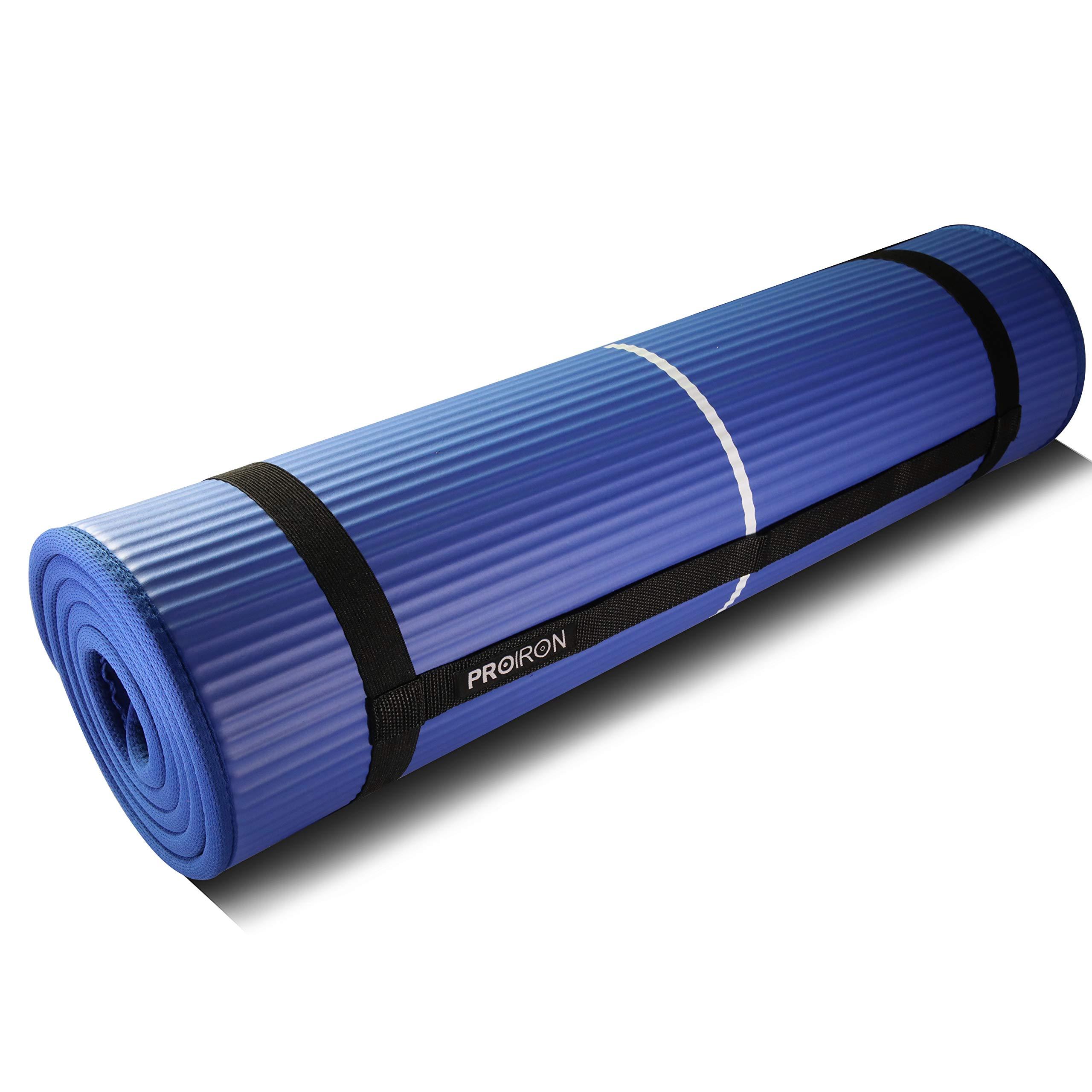 PROIRON Colchón para Yoga NBR Colchoneta Antideslizante Ideal para Pilates Ejercicios Fitness Gimnasia Estiramientos 183CM*66CM*1CM product image