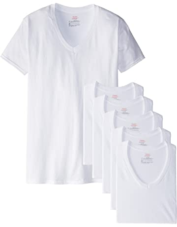 0ba39cc9a234 Hanes Men's White and Assorted V-Neck T-Shirts