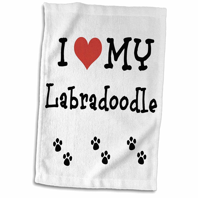 3D Rose I Love My Labradoodle TWL/_183667/_1 Towel 15 x 22
