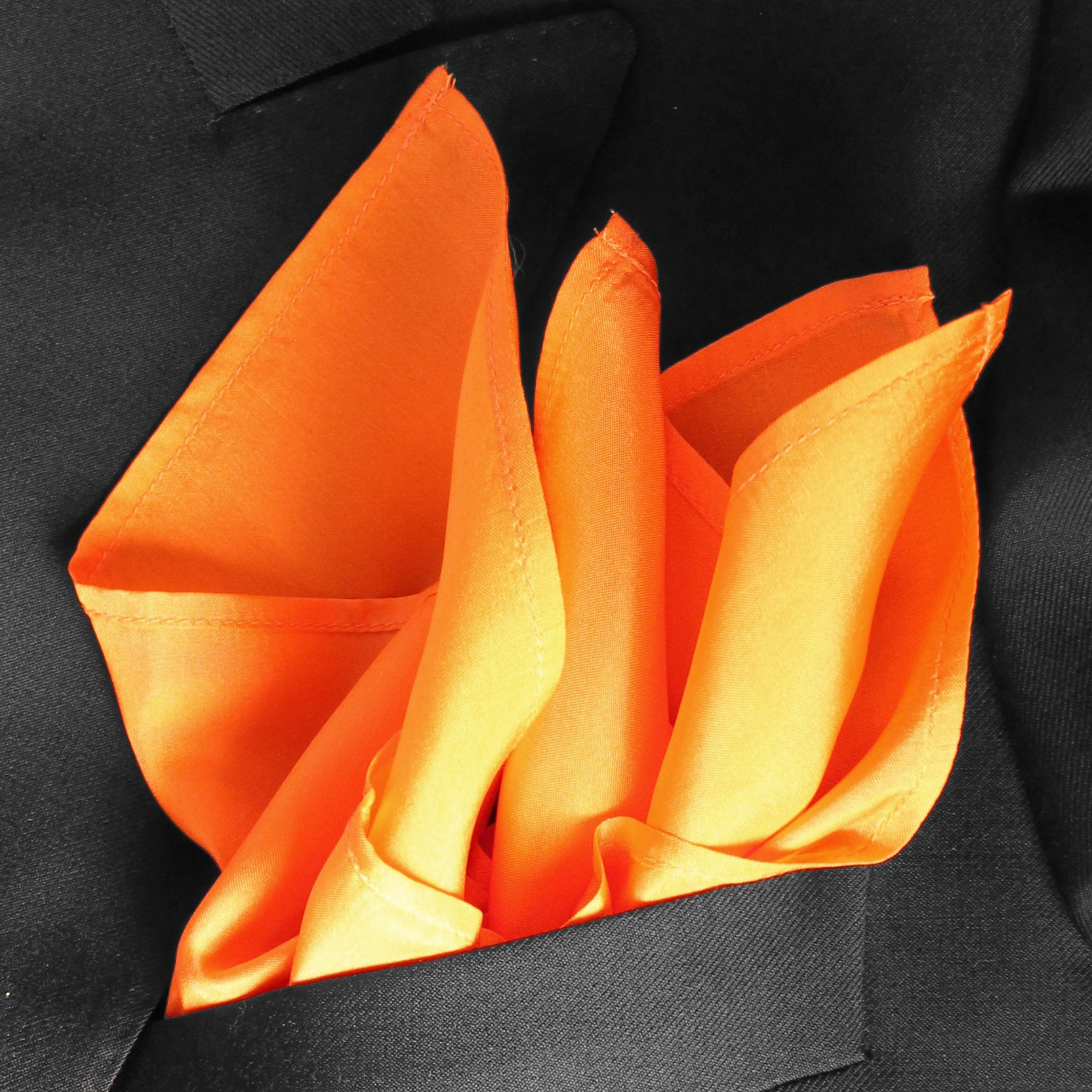 Fine Orange Silk Pocket Square by ROYAL SILK- Full-Sized 16''x16'' by Royal Silk (Image #2)