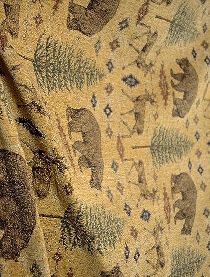 Amazon Com Ottawa Gold Lodge Bear Deer Pine Tree Chenille