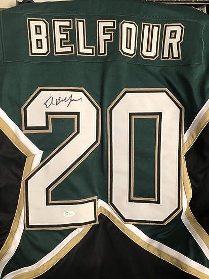 hot sale online bceb3 5b1fd Ed Belfour Autographed Signed Dallas Stars #20 Jersey - JSA ...